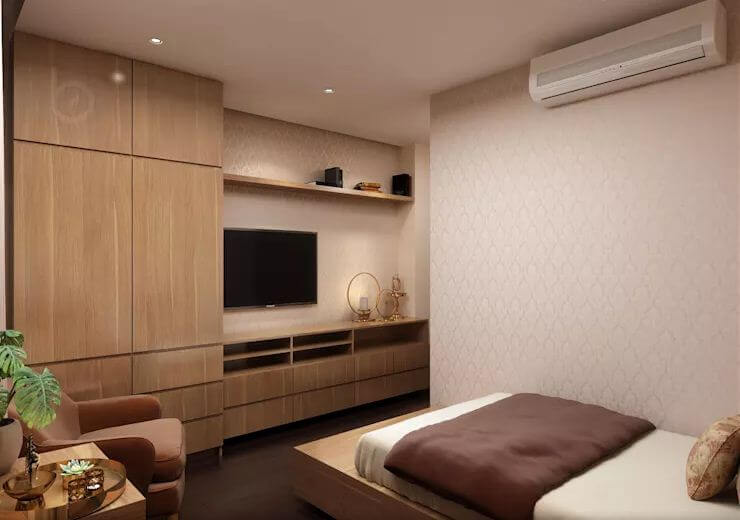 Phòng ngủ nhỏ - Thiết kế căn hộ Penthouse - 1