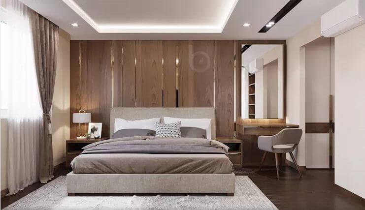 Phòng ngủ Master - Thiết kế căn hộ Penthouse