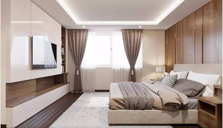 Phòng ngủ Master - Thiết kế căn hộ Penthouse - 2