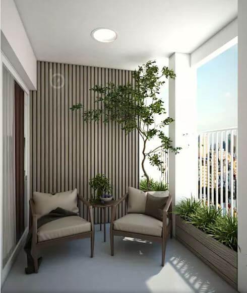 Không gian ban công - Thiết kế căn hộ Penthouse