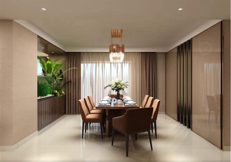 Không gian bếp ăn trang nhã - Thiết kế căn hộ Penthouse