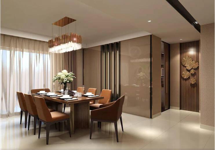 Không gian bếp ăn trang nhã - Thiết kế căn hộ Penthouse - 1