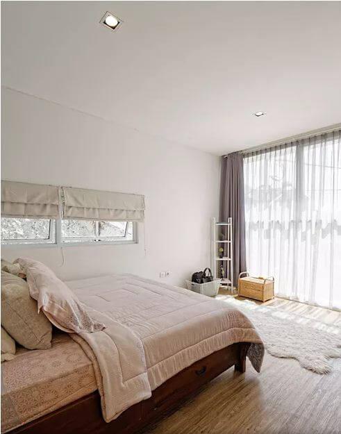 Phòng ngủ cực thoáng đãng - Mẫu nhà phố 2 tầng 1 lửng