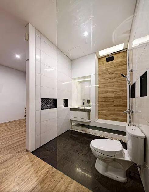 Thiết kế phòng vệ sinh hiện đại - Mẫu nhà phố 2 tầng 1 lửng