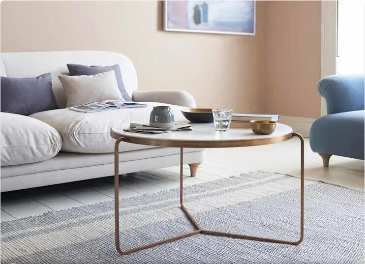 Bàn tròn chân kim loại - Mẫu bàn trà đẹp