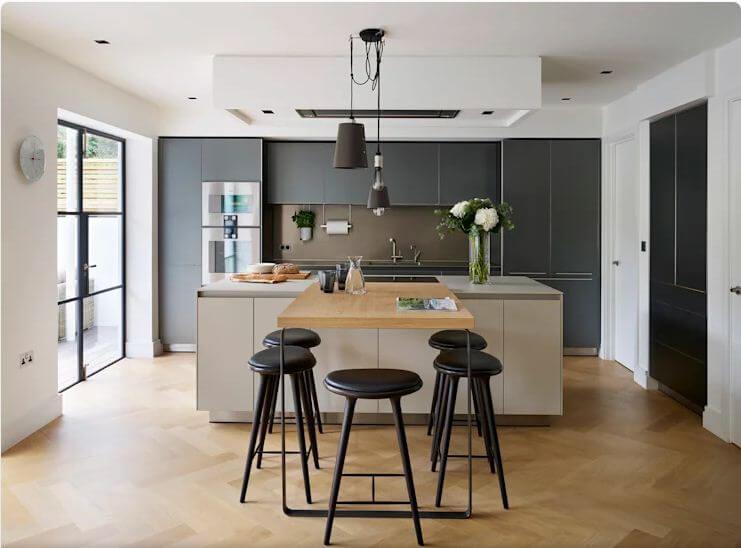Kết hợp bàn Bar - Thiết kế bếp hiện đại