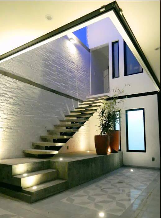 Kết hợp cầu thang nổi - Cầu thang bê tông