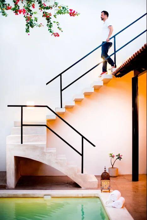 Cầu thang ngoài trời - Cầu thang bê tông