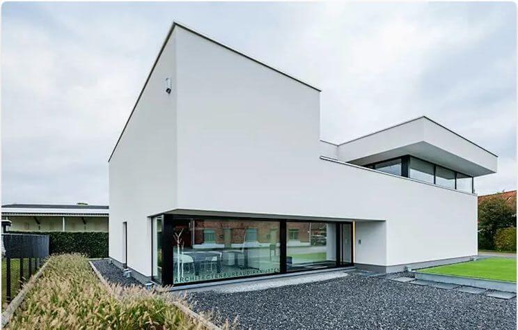 Mặt tiền sơn trắng với phong cách tối giản - Mặt tiền nhà đẹp