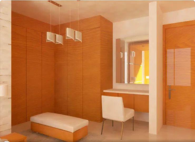 Kết hợp tủ với bàn trang điểm - Thiết kế tủ gỗ