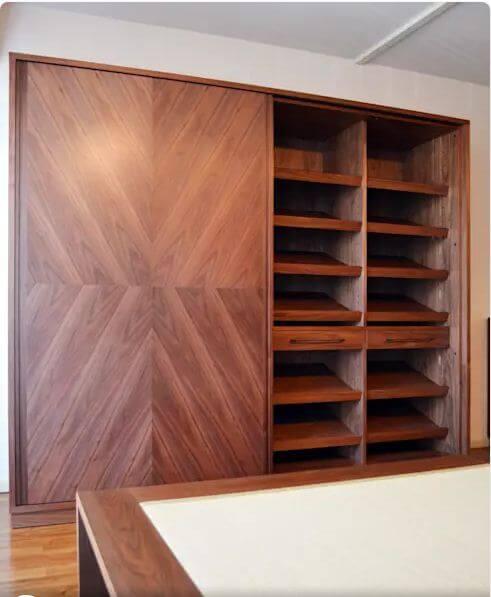 Tủ quần áo và phụ kiện riêng biệt - Thiết kế tủ gỗ