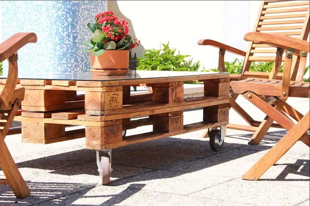 Mẫu bàn ghế gỗ nhỏ đẹp số 30
