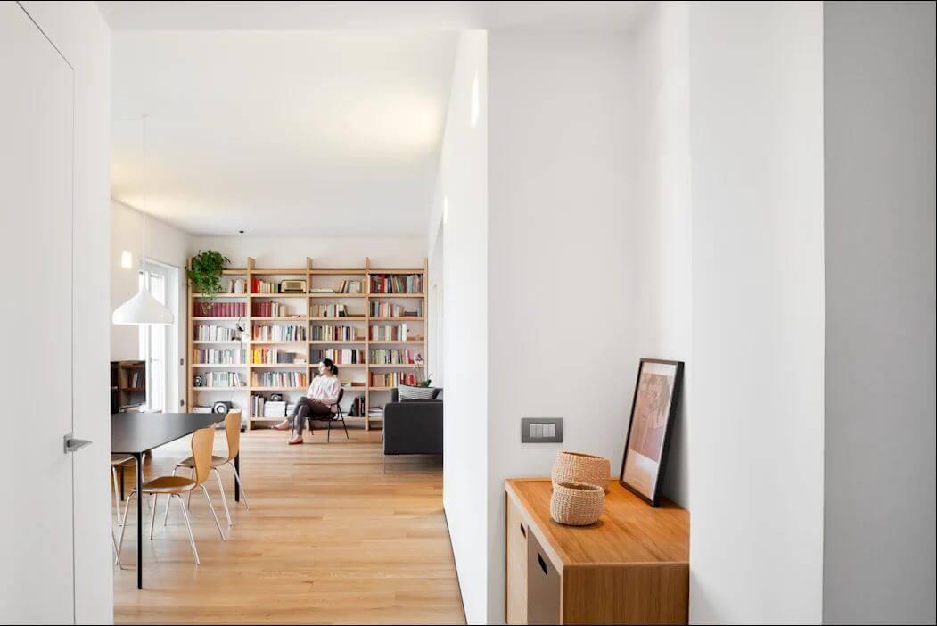 Tủ sách đơn giản cho phòng khách - Mẫu tủ đóng đẹp