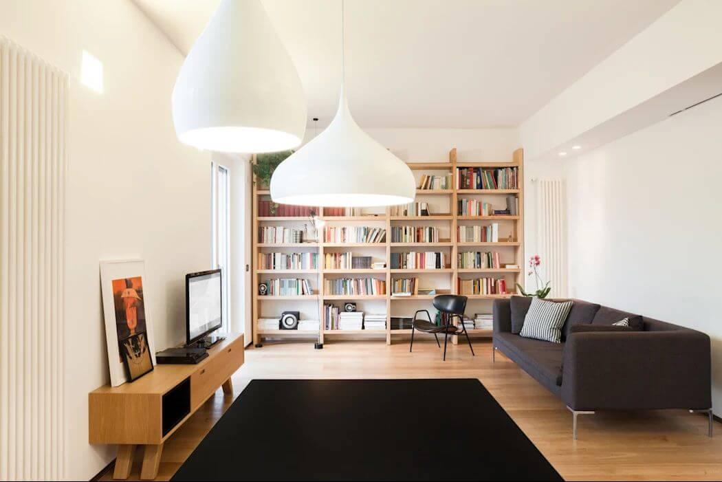 Tủ sách đơn giản cho phòng khách - Mẫu tủ đóng đẹp - 1