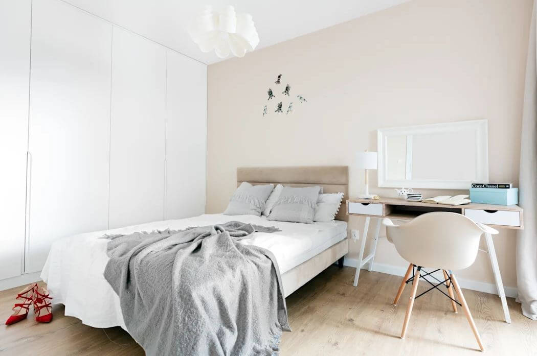 Gam màu be trung tính - Phòng ngủ đẹp hiện đại