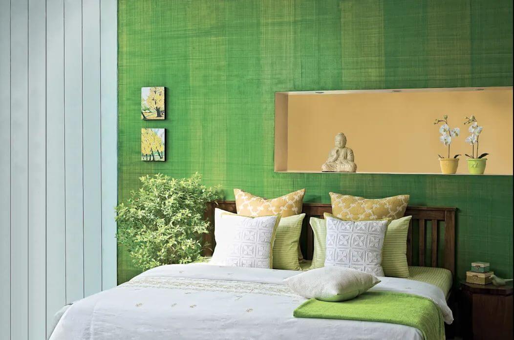 Màu xanh cốm - Phòng ngủ đẹp hiện đại