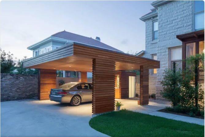 Mái gỗ hiện đại - Mái che ngoài trời - 1