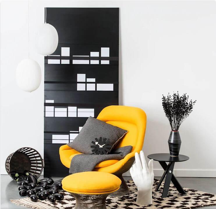 Gam màu vàng chanh - Vật liệu nội thất