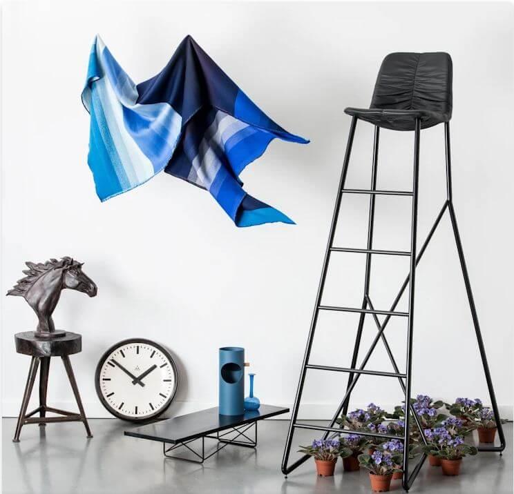 Các sắc thái của tone màu xanh dương - Vật liệu nội thất