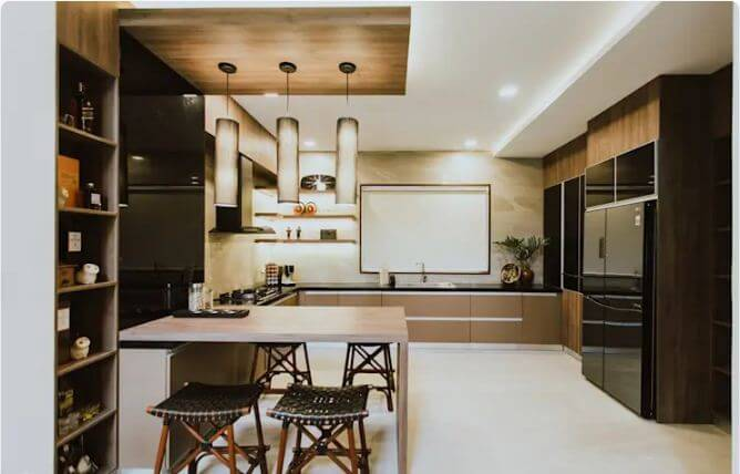 Bếp trung tính hiền hòa - Nhà bếp đẹp