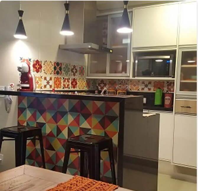 Bếp ốp gạch Vintage - Nhà bếp đẹp