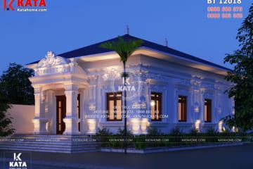 Một góc view của mẫu nhà 1 tầng tân cổ điển đẹp tại Hà Tính