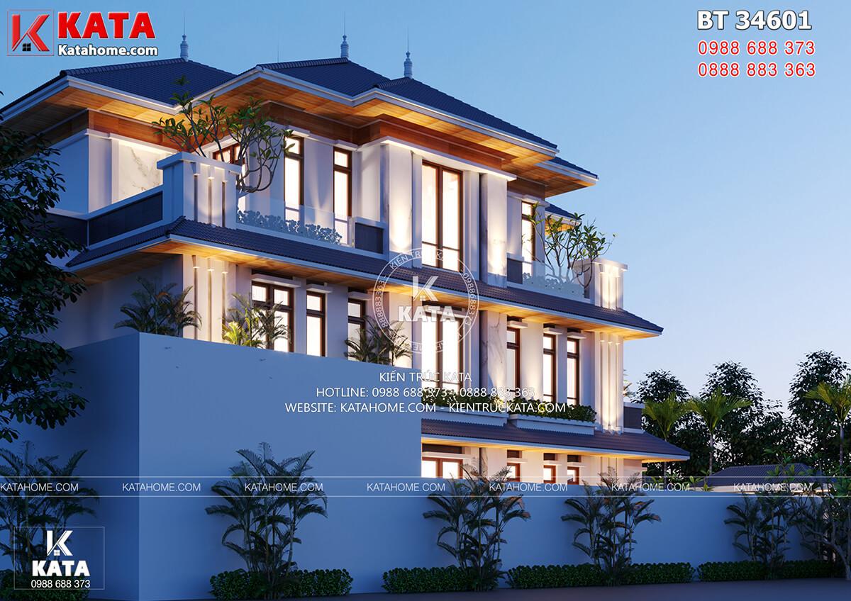 Mẫu nhà 3 tầng đẹp mang phong cách kiến trúc hiện đại