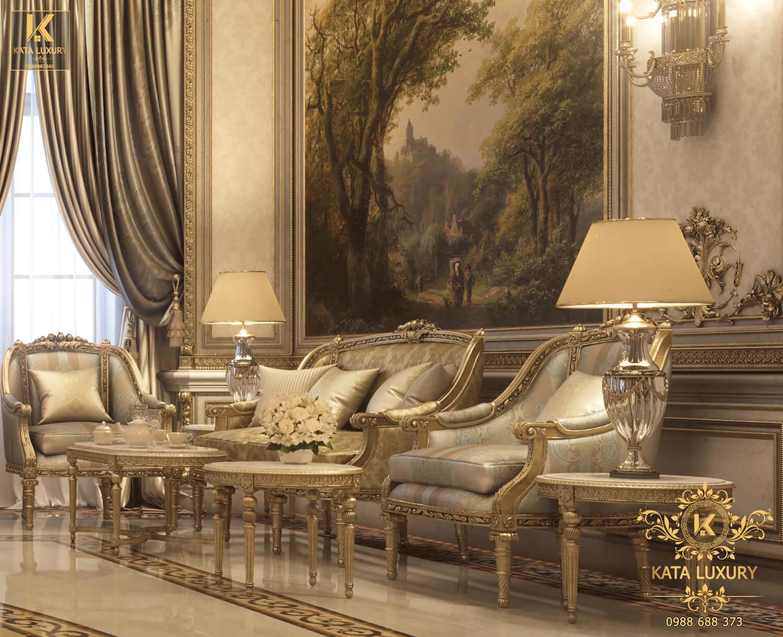 Thiết kế nội thất đẹp cổ điển sang trọng với đồ nội thất cao cấp
