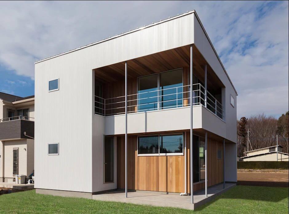 Phong cách hiện đại, đơn giản - Bản vẽ thiết kế nhà 2 tầng