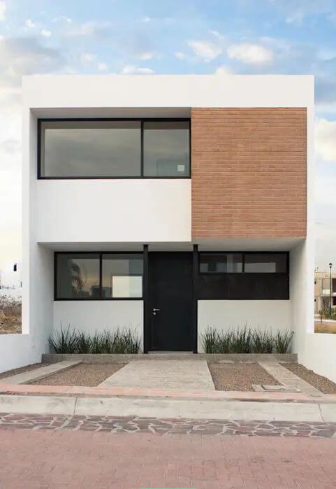 Mặt đứng đơn giản và hiệu quả - Bản vẽ thiết kế nhà 2 tầng