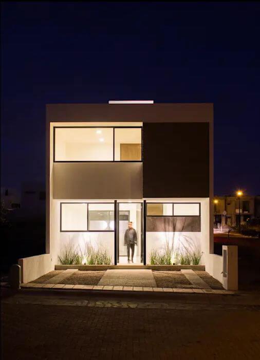 Mặt đứng đơn giản và hiệu quả - Bản vẽ thiết kế nhà 2 tầng - 1