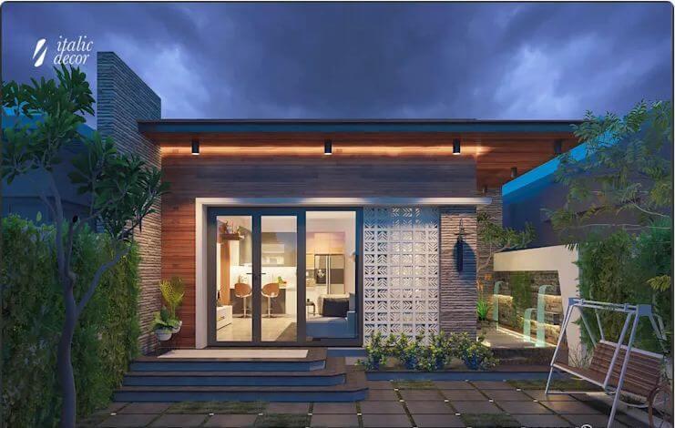 Thiết kế mặt đứng - Biệt thự nhà vườn 218m2