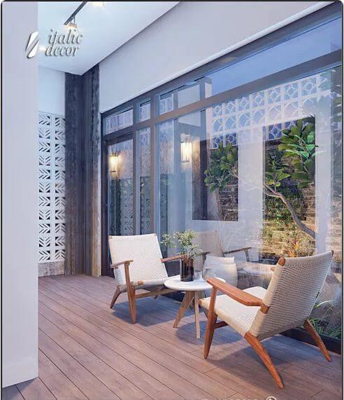 Không gian xanh trong nhà - Biệt thự nhà vườn 218m2