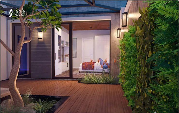 Không gian phòng ngủ thoáng đãng - Biệt thự nhà vườn 218m2