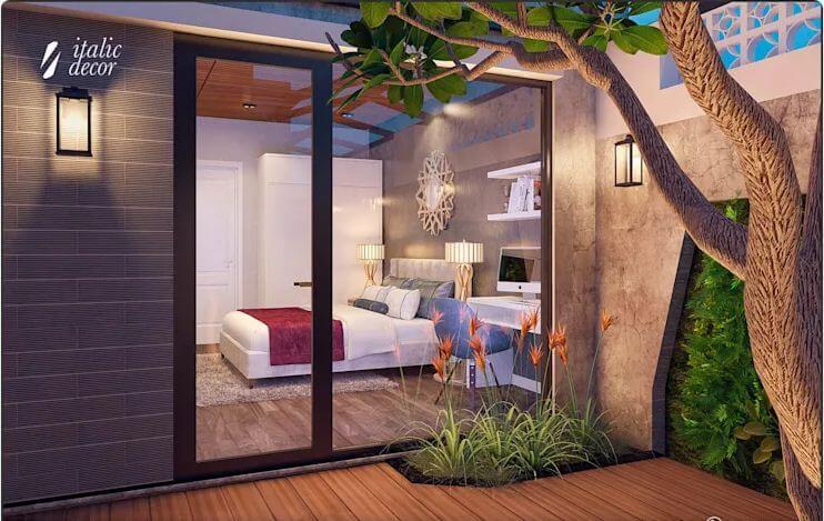 Không gian phòng ngủ thoáng đãng - Biệt thự nhà vườn 218m2 - 1