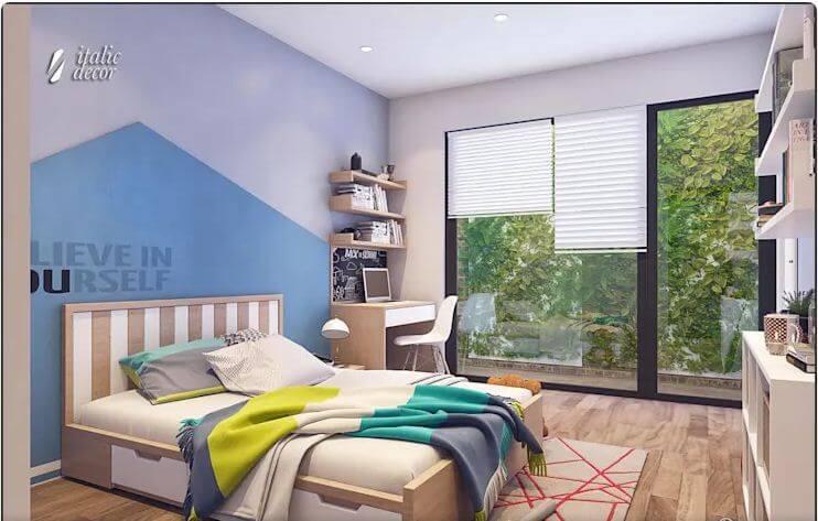 Phòng ngủ trẻ em sáng tạo - Biệt thự nhà vườn 218m2 - 2