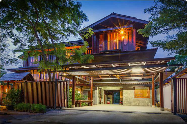 Ngôi nhà kiểu Châu Á 2 tầng xinh xắn - Các mẫu nhà đẹp