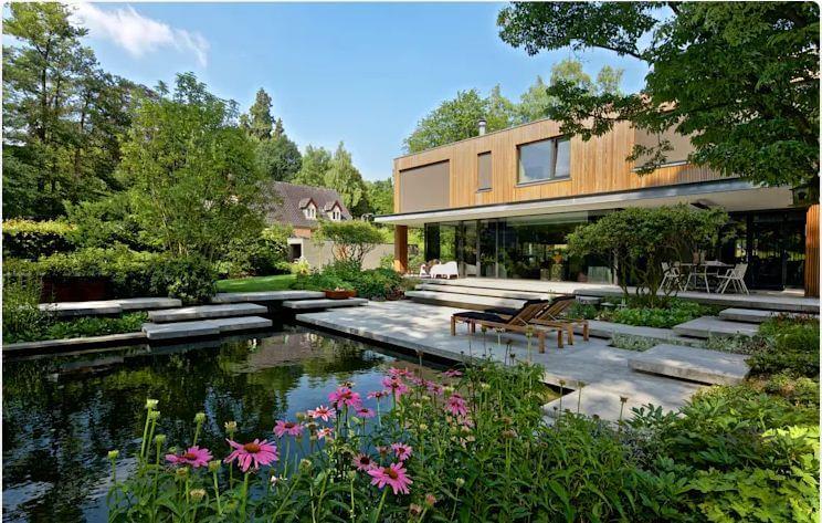 Tạo cảnh quan sân vườn và trồng nhiều cây xanh - Cách chống nóng
