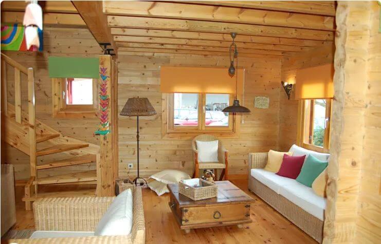 Phòng khách - Nhà vườn 2 tầng