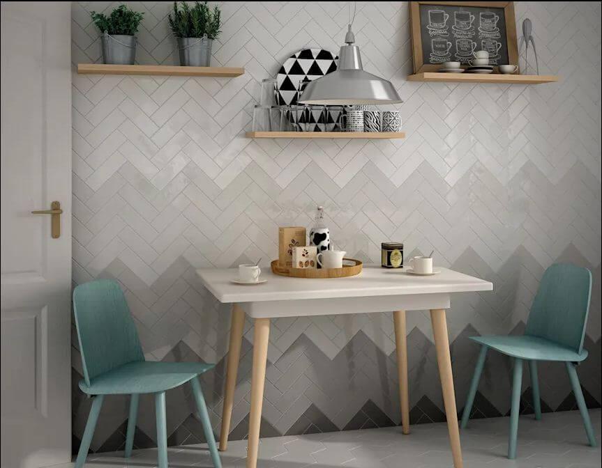 Kết hợp màu sắc đậm nhạt - Gạch ốp tường