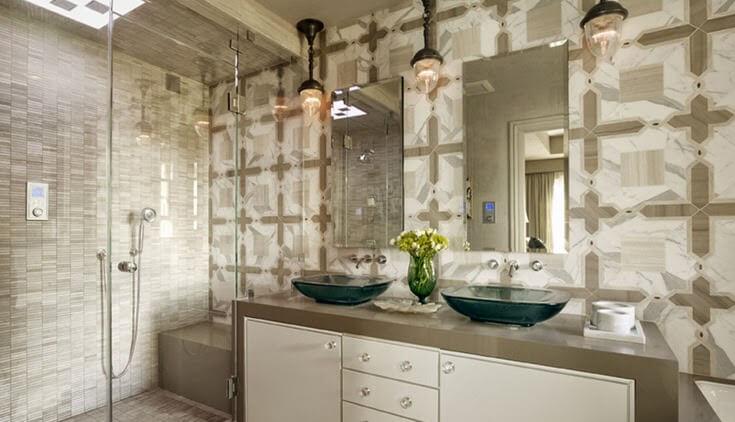 Phòng tắm mang hơi thở Địa Trung Hải - Gạch ốp tường