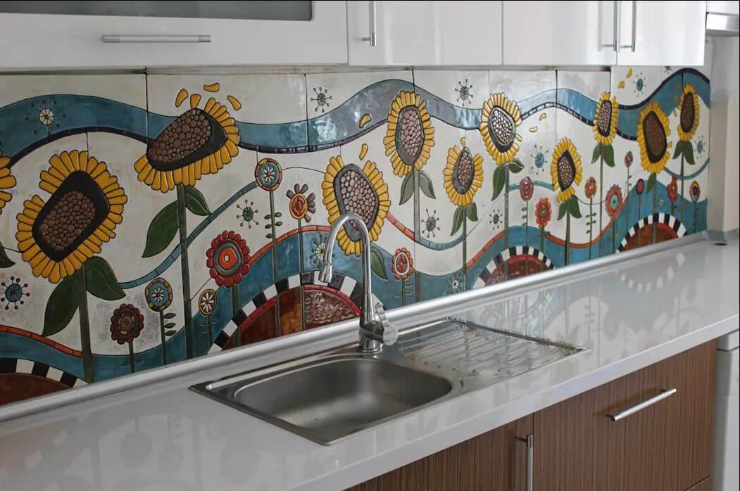 Bức tranh đầy màu sắc - Gạch ốp tường