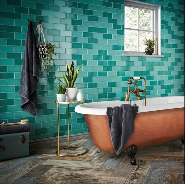 Tường phòng tắm sang trọng và trẻ trung - Gạch ốp tường