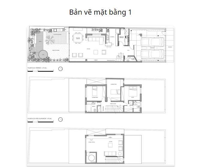Bản vẽ mặt bằng chi tiết - Mẫu nhà nhỏ 2 tầng