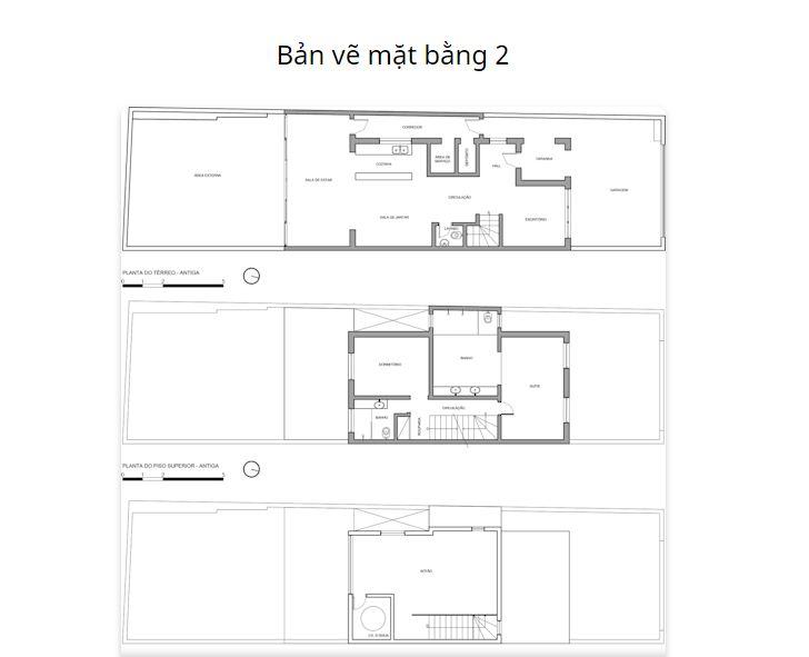 Bản vẽ mặt bằng chi tiết - Mẫu nhà nhỏ 2 tầng - 1