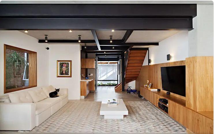 Không gian phòng khách - Mẫu nhà nhỏ 2 tầng