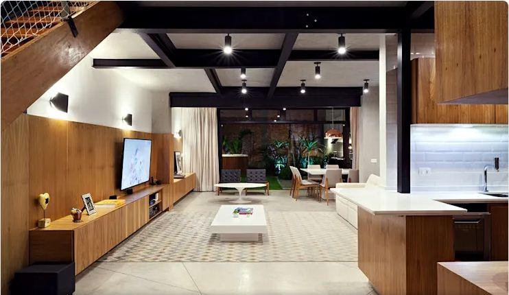 Không gian phòng khách - Mẫu nhà nhỏ 2 tầng - 2