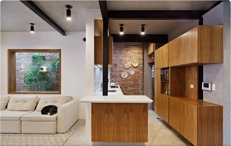 Không gian phòng bếp, phòng ăn - Mẫu nhà nhỏ 2 tầng