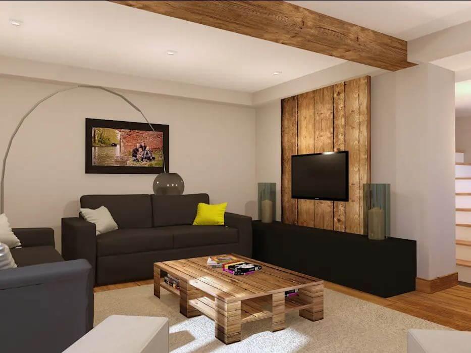 Kệ giá TV tái chế từ gỗ Pallet - Kệ tivi phòng khách