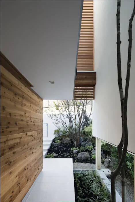 Lối vào nhà - Nhà Nhật 2 tầng